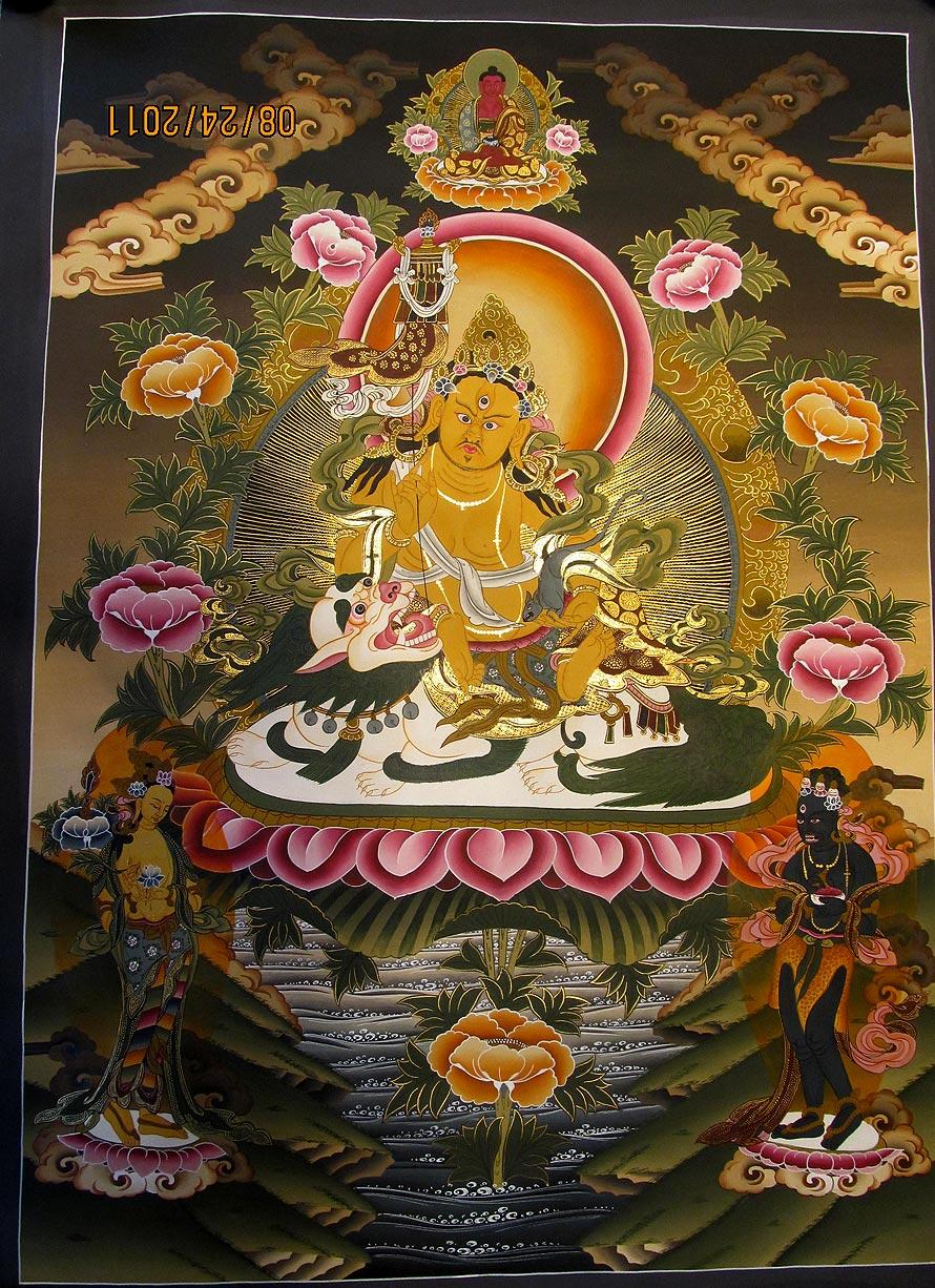 Zambala Thangka,Namtse Thangka, Nepali thangka, Tibetan